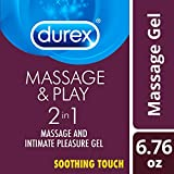 Durex Massage and Play 2-in-1 Massage Gel and Personal Lubricant, Soothing Touch, 6.76 Ounce by Durex