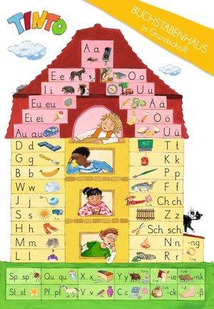 """TINTO 1 und 2. Zu allen Neubearbeitungen. 1. Schuljahr. Lauttabelle \""""Buchstabenhaus\"""" in Grundschrift. 10 Stück im Beutel"""
