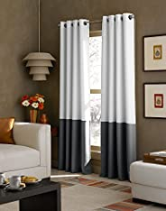 CHF Industries Kendall Color Block Grommet Curtain Panel