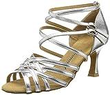 Diamant Latein 108-087-013 Damen Tanzschuhe - Standard & Latein, Damen Tanzschuhe - Standard & Latein, Silber (Silber), 38 2/3 EU (5.5 Damen UK)