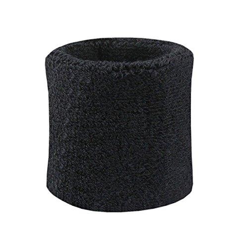 2 Stück Schweißbänder für Outdoor Indoor Sports | Unisex elastisches Handgelenk Armband | Hochwertige Wristbands | Fitness-Schweißbänder Hand | Sweatband 8 x 7,5 cm (schwarz) | Beyond Dreams |