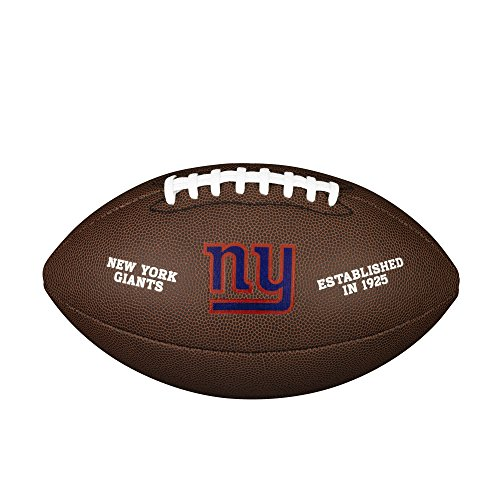 WILSON NFL Team Logo Composite Fußball, New York Giants, Official (Giants York New)