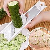 JoyFan Kreative Multi Mandoline Gemüseschneider Reibe Küche Set Dünne Julienne Hobel Cutter Waffelschneider weiß