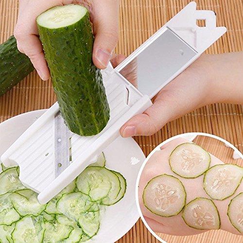 SELUXU Kreative Multi Mandoline Gemüseschneider Reibe Küche Set Dünne Julienne Slicer Cutter Waffel Slicer (Slicer Reibe Mandoline Set)