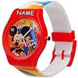 Unbekannt Kinderuhr / Armbanduhr - Disney - Mickey Mouse - inkl. Name - Analog - Quarz / Analogarmbanduhr - Lernuhr - hochwertige Uhr / Kinderarmbanduhr - Analoguhr - K..