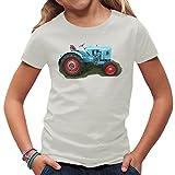 Traktoren Kinder T-Shirt - Traktor Eicher by Im-Shirt - Hellgrau Kinder 3-4 Jahre