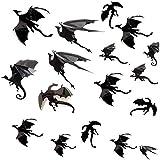 UMIPUBO Adesivi Halloween,Drago volante Adesivi 3D Della Parete di Halloween, Drago Halloween Decorazioni Finestra Adesivi (Nero)