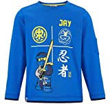 LEGO Ninjago Kollektion 2018 Langarmshirt 98 104 110 116 122 128 134 140 Shirt Jungen Top Blau (Blau-Grau, 116)