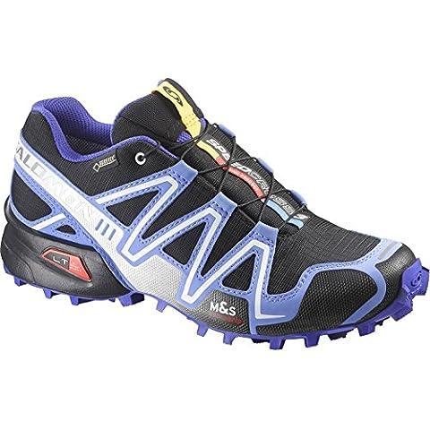Salomon Speedcross 3 GTX Women Trail Laufschuhe black-petunia blue-spectrum blue - 42