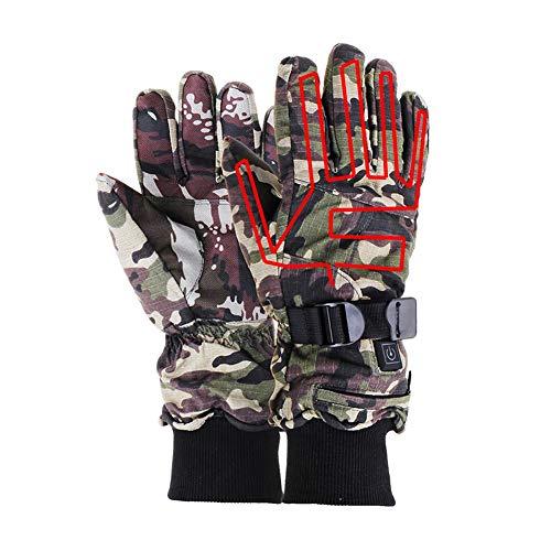 liuxi Beheizte Handschuhe, elektrische thermische Handschuhe wiederaufladbare batteriebetriebene Wasserdichte Handschuhe für Outdoor-Aktivitäten, Temperatur einstellbar -