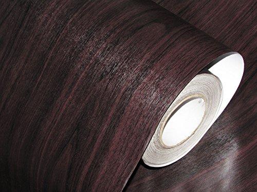 CVANU® Self Adhesive Wood Grain Wallpaper Waterproof Old Furniture Vinyl Stickers Wooden Door Wardrobe Desktop PVC Wall Papers Cv189 12''x48''inch