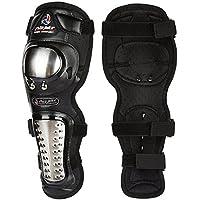 Carreras de Rugby de la motocicleta de la fibra de carbono Off - Equipo del caballero de la rodilla de la rodilla del vehículo de camino ( Tamaño : XL )