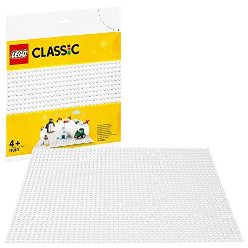 LEGO 11010 Classic Weiße Bauplatte 25 cm x 25 cm für Winter-Sets, Konstruktionsbasis
