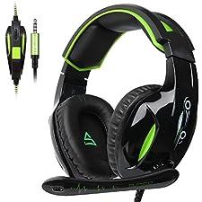 SUPSOO G813 Xbox One Gaming Headset 3,5 mm câble d'isolement du microphone de contrôle de volume pour Mac/PC/Laptop/Xbox One-noir