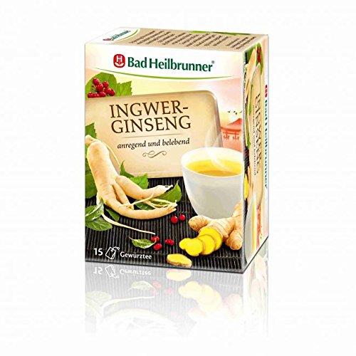 BAD HEILBRUNNER Ingwer-Ginseng Tee Filterbeutel 15 St Filterbeutel