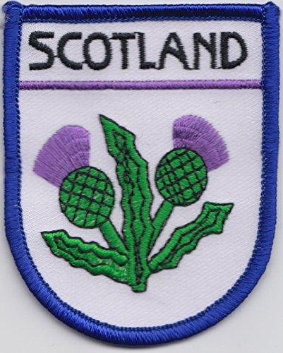 Scozia Cardo Bandiera Shield Logo ricamato (A487)