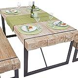 Mendler Esszimmertisch HWC-A15, Esstisch Tisch, Tanne Holz rustikal Massiv ~ 180x90cm