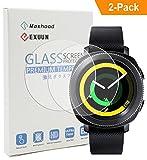 Maxhood (2 pièces) Protecteur d'écran Samsung Gear Sport, 9H Verre trempé 2.5D Protecteur d'écran anti-traces de doigts pour Samsung Gear Sport