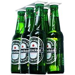 Magenesis Magnético Cerveza Soporte/Percha para 6Botellas, Botellas de Ahorrar Espacio y organizar a la Nevera Techo y Redes–un Gran Regalo para Cualquier Persona Que le Gusta Tomar Cerveza fría