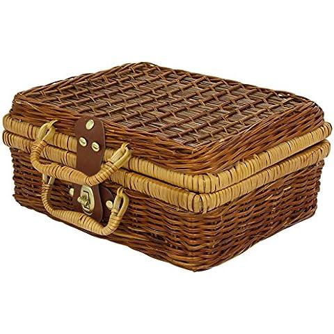 Vilac 8156 - Cesta con accesorios para picnic de juguete (14 piezas metálicas)