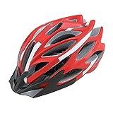 Textur Reithelm, Mountainbike, Geteiltes Fahrrad, weich, Aero Cool leicht, geschützt für Männer und Frauen, Kinder-Schutzausrüstung, Rollschuh-Sicherheits-Helme, Windkanal-Accessor rot