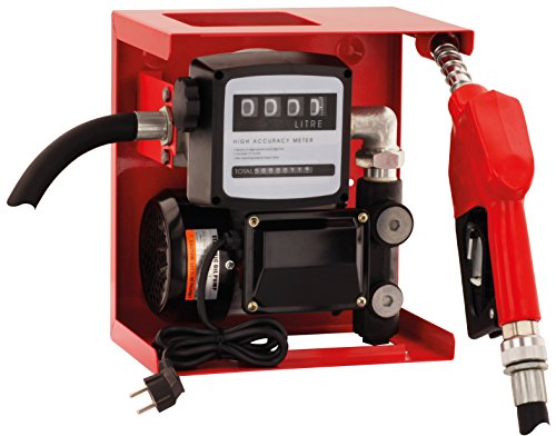blurea Diesel Hofmeister, Bomba diésel de gasolinera + pistola automática con rótula y 4m manguera + contador Set, 60L/min, 230V, 370W, 1,5bar, ruido Clase de protección IP55, para rellenar de la capacidad de vehículos, máquinas de construcción o el drenar öltanks