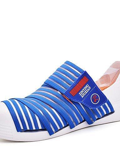 ShangYi gyht Scarpe Donna-Mocassini-Casual-Comoda-Piatto-Sintetico-Blu / Marrone / Giallo / Verde / Rosso / Beige Blue