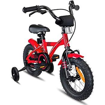 Prometheus Bicicleta Infantil | 12 Pulgadas | niño y niña | Rojo Negro | A Partir