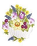 Fensterbild Frühling Tasse mit Frühlingsblumen