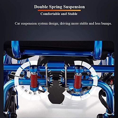 51YrGTwCTlL - Silla de ruedas eléctrica, nuevo control remoto plegable ligero y ligero Silla de ruedas eléctrica motorizada, Scooter de silla de ruedas eléctrica motorizada ligera plegable y de viaje 2019.