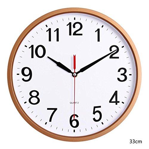 Nombre: Reloj de pared  Forma: redonda  Tamaño: 13 pulgadas (diámetro 33 cm) 9 pulgadas (diámetro 22.5 cm) 12 pulgadas (diámetro 30.5 cm)  Material de Shell: espejo de plástico  Material: esfera de cristal  material: plástico  Tipo de movimi...