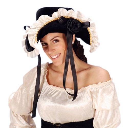 Ladyhut mit Rüsche - (Piraten Hut Rüschen Mit)