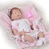 couchage Reborn Baby Doll réaliste Filles 55,9cm Coque en silicone doux bébé Simulation Poupées jouet enfants Croissance partenaire...