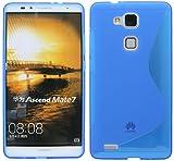 Huawei Ascend Mate 7 Silikon Hülle Schale Tasche in Blau @ Energmix