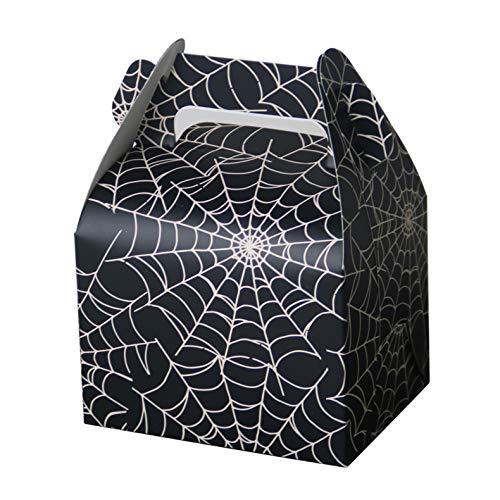 Hondex Spiderweb 15pcs Tragbare Popcorn Candy Dessert Treat Boxen für Halloween-Party Kinder Geburtstag Weihnachtsdekoration