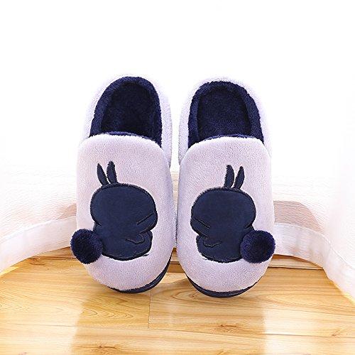 Fankou autunno e inverno ispessimento dei genitori cartoon piano casa metà pack con un paio di pantofole caldi femmina Kaffee Farbe