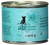 Catz finefood N° 21 Wild und Rotbarsch Katzennassfutter, 6er Pack (6 x 200 g)