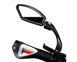 Klevsoure Bicycle Stainless Steel Lens Mirror MTB Handlebar Side Safety Rear View Road Bike Cycling Flexible Rearview Mirrors