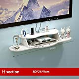 Shelf TV Wand Set-Top-Box Gestell Wohnzimmer Schlafzimmer Wand Wand-Router Storage Partition Nahtlose Nail Installation Punch Installation Zwei Wege (Farbe : H-2)