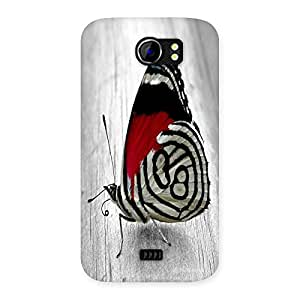Unicovers Cute Butterfly Back Case Cover for Micromax Canvas 2 A110