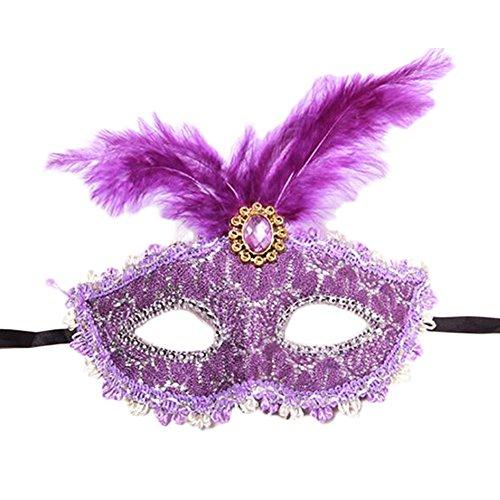 (Black Temptation Party-halbe Gesichtsmaske Kostüm Prinzessin Feder Maskerade Maske Maske-A4)