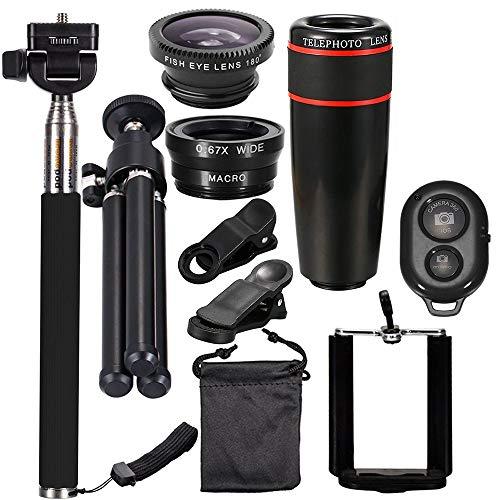 Haiyemao Endoscopio Lente Kit Fotografico per Telefono Cellulare Universale 10PCS 8X Teleobiettivo Fotografo di Fotografia