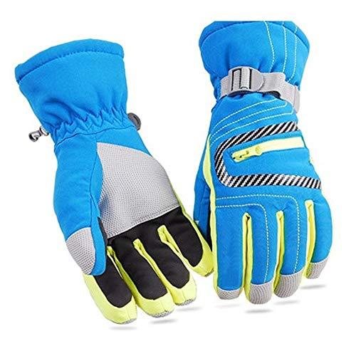 Goiuhr guanti da sci guanti da sci guanti impermeabili guanti invernali sport invernali sci da montagna guanti da snowboard, blu, s