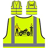 Garaje Para Motociclistas Chaqueta de seguridad amarillo personalizado de alta visibilidad r421v