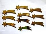 ERRO Komet - Set di 10 Stelle di Natale di Betlehem, comete, Coda, Decorazione Stella cadente in plastica, Accessori per bricolage Fai da Te