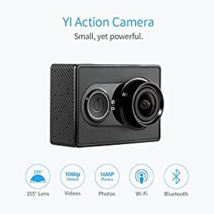 YI Acción Cámara gebündelt con carcasa resistente agua 16MP 2K 1080p/60fps con 2.4G Wifi Bluetooth 4.0–Negro