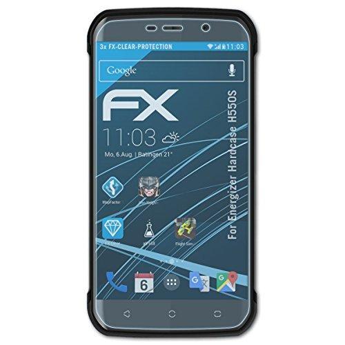 atFolix Schutzfolie kompatibel mit Energizer Hardcase H550S Folie, ultraklare FX Bildschirmschutzfolie (3X)