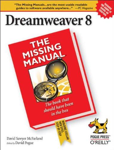 Download Dreamweaver 8 The Missing Manual Missing Manuals