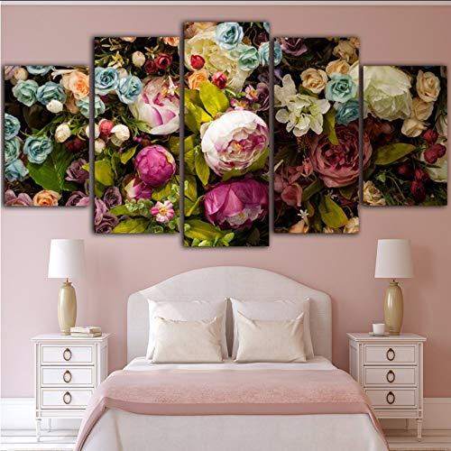 i Bunte Blumen Leinwand Malerei Cuadros Decoracion Salon Wandkunst Leinwand Bord Wandbild Wandbilder Kunstdruck,40X60/80/100Cmwiwhy ()