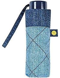 Le Monde du Parapluie Parapluie pliant - Ouverture manuelle Jeans clair Paraguas plegable, 19 cm